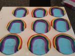een plakje 'lucht' met de regenboogjes