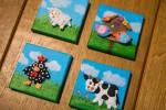 schilderijtjes met silk clay